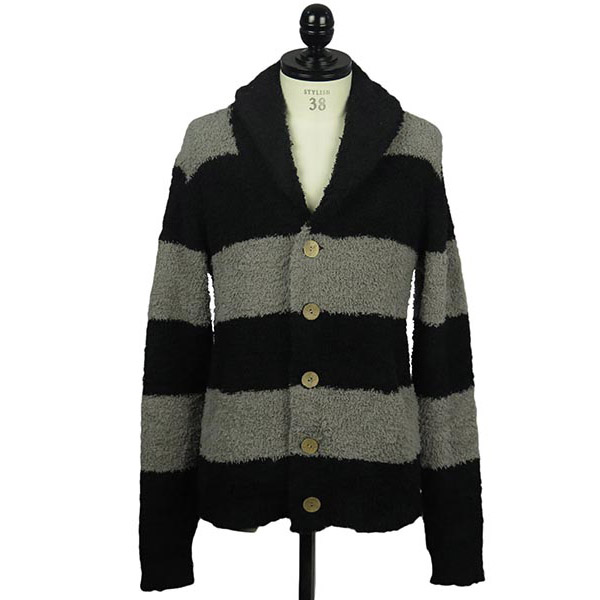 BORDER SHAWL CARDIGAN