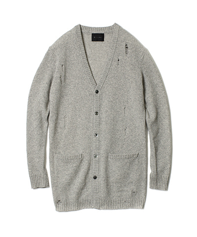 SW-TWEED LONG CARDIGAN