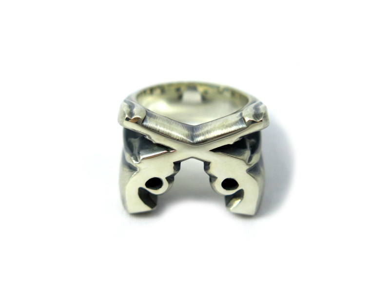 PISTOL STAMP RING(IVXLCDM)