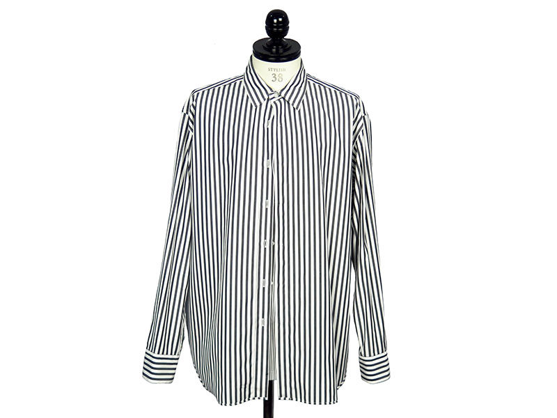LAYERED SHIRT-BK STRIPE-(172-SH07-013PIECES)