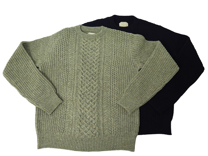 ARAN CABLE KNIT CREW-NECK