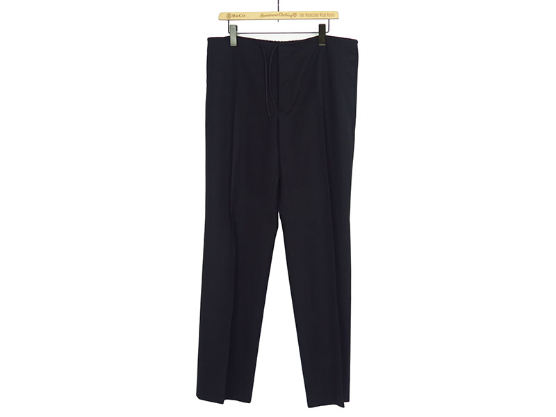WOOL DRAWSTRING PANTS
