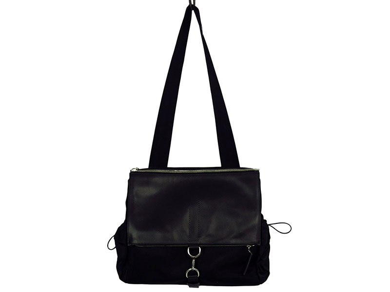 LEATHER COMBI SHOULDER BAG