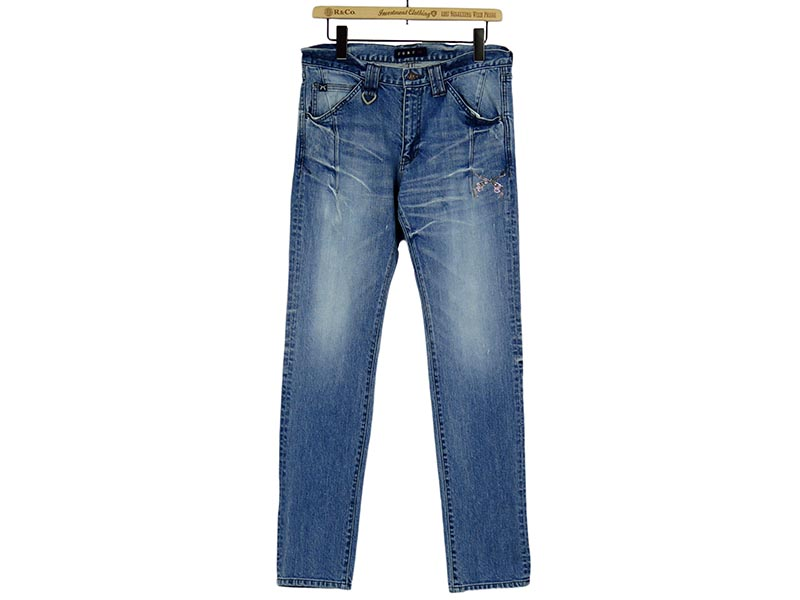 PISTOL SWAROVSKI METAL&CRYSTAL STRETCH DENIM(17SRP-17A)