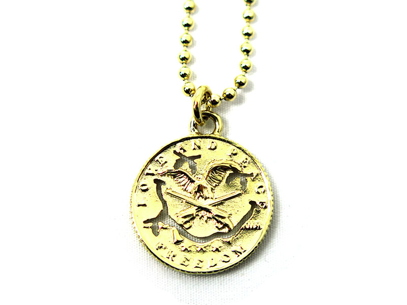 SMILE COIN NECKLACE 10K(17SRQ-35)