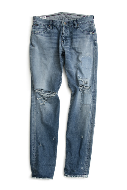 CUSTOM CRASH DENIM TAPERED
