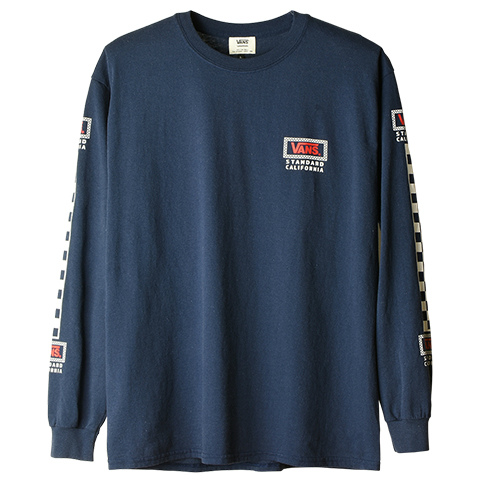 VANS × SD Checker Box Logo Long Sleeve T