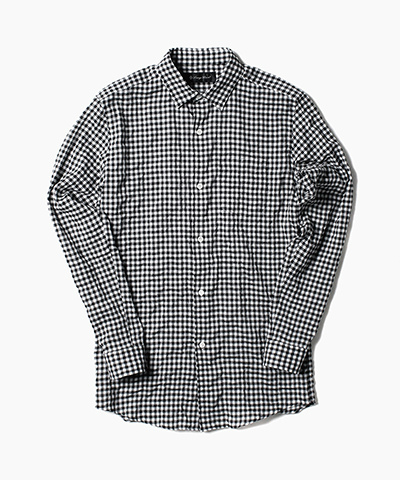 C/R SHIRRING CHECK SHIRTS