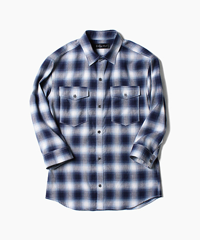 R/L OMBRAY CHECK 3/4 SLEEVE SHIRTS