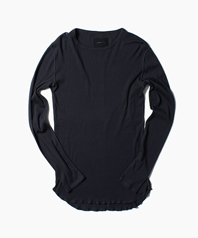 C/M HIGH GAUZE RIB LONG SLEEVE