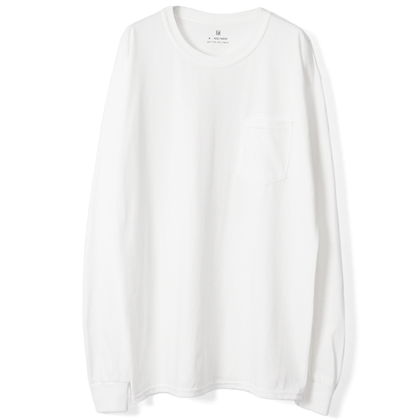 BACKPRINT L/S T-SHIRTS/WHITE
