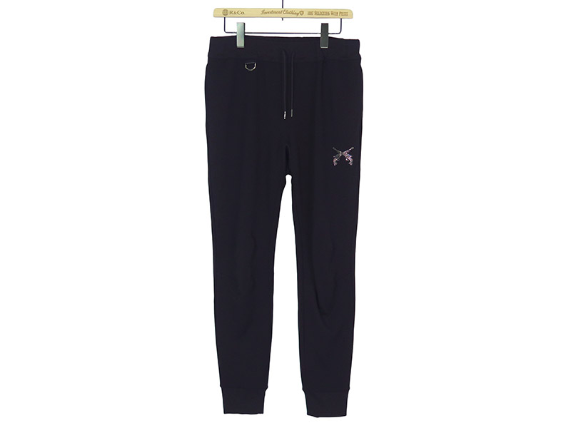 "PISTOL SWAROVSKI METAL ""LOVE AND PEACE"" SWEAT PANTS (18SRP-23A)"