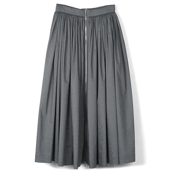 polyester chambray gather skirt