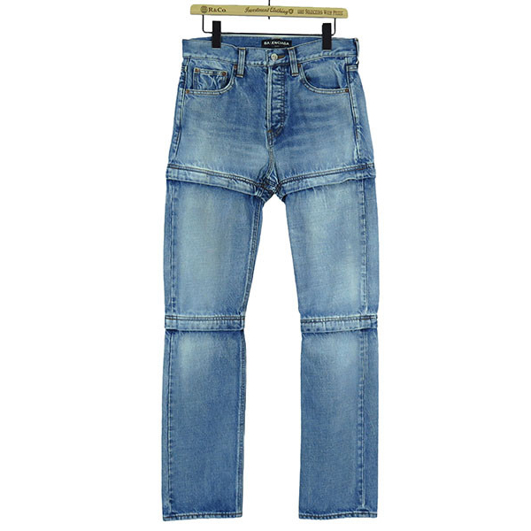 ZIPPED JEANS-DIRTY LIGH-
