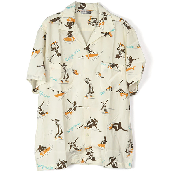 SD Skaters Hawaiian Shirt/WHITE