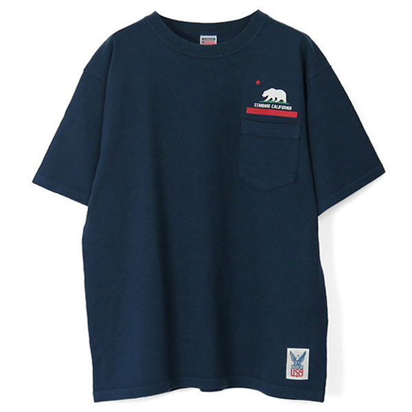 SD Made in USA Heavyweight Pocket T with Logo/NAVY