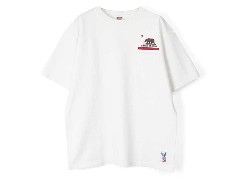 SD Made in USA Heavyweight Pocket T with Logo/WHITE
