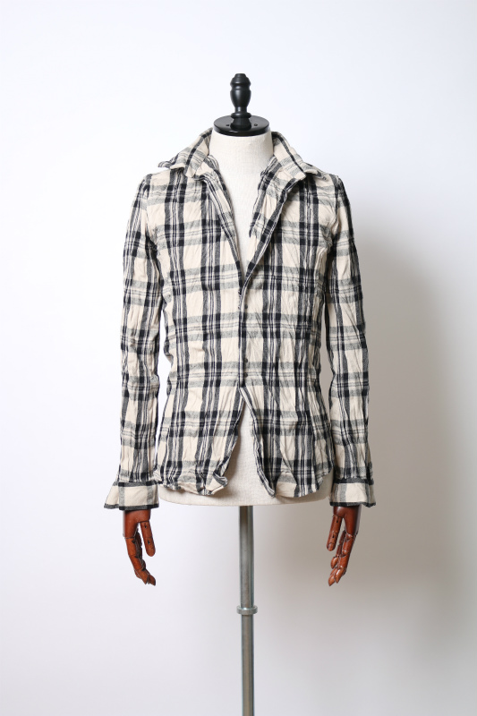 madras check hook shirts