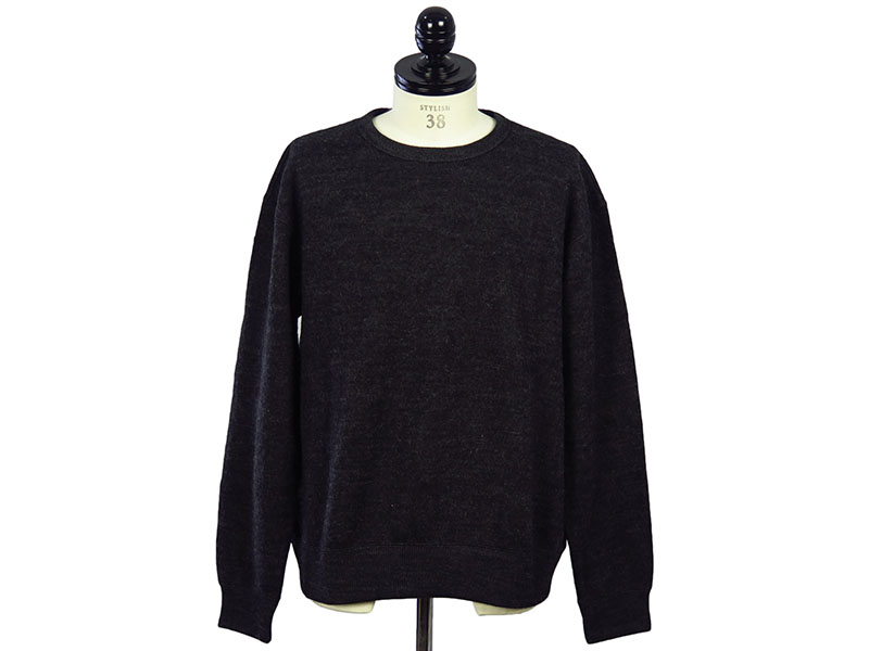 NEWZEALAND WOOL CREW NECK KNIT