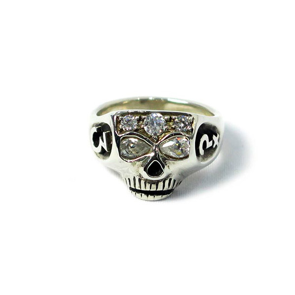 SILVER JIM SKULL JOHNNY DEPP TYPE
