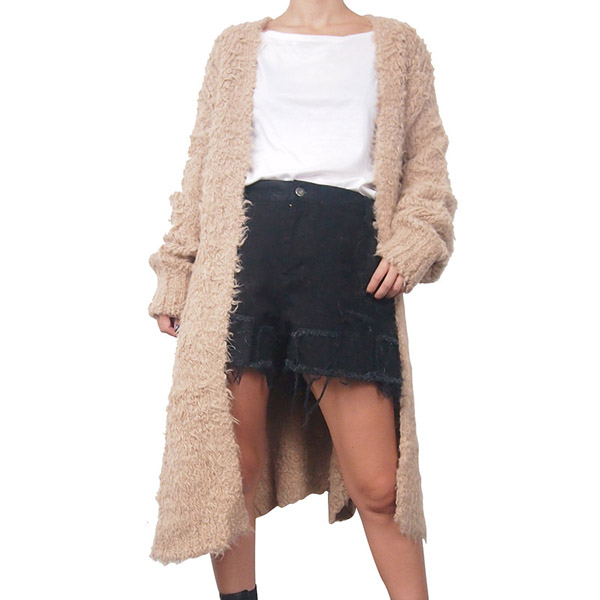 SHAGGY BALLON LONG CARDIGAN