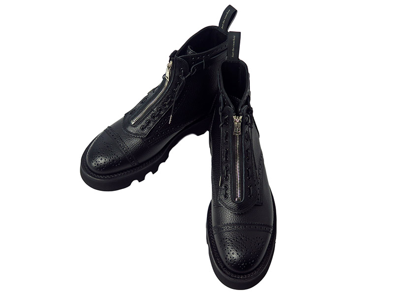 RESISTANCE BOOTS-BLACK EMBOSSED-