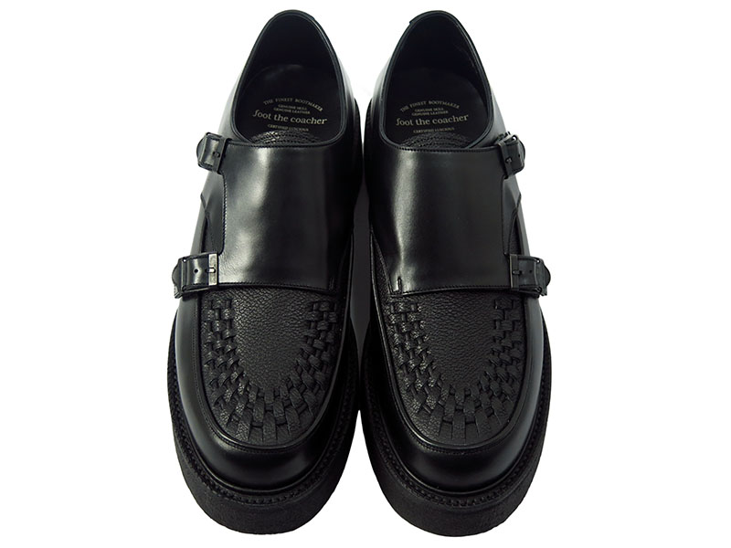 DOUBLE MONK HARDER BRAIDED-BLACK EMBOSSED-