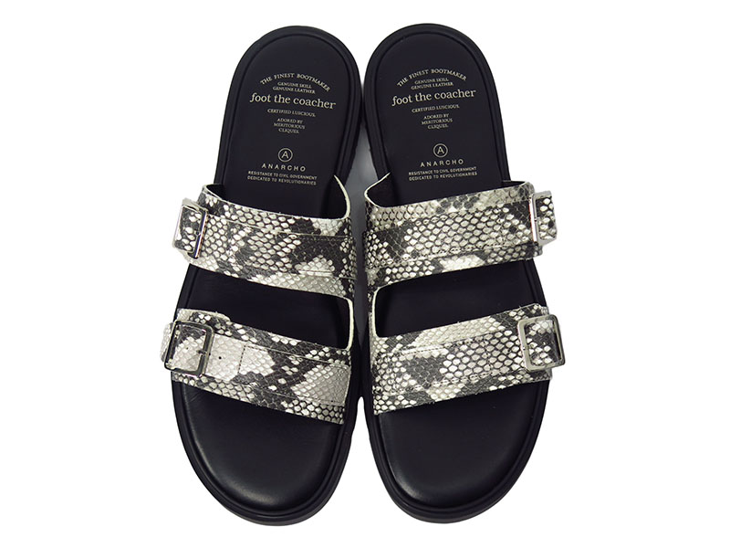 S.S. SANDALS TWO BELTS-PYTHON-