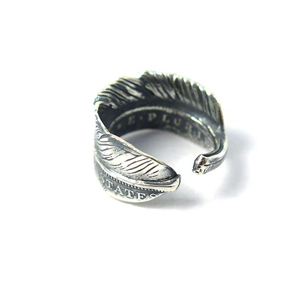 HALF DOLLAR FEATHER RING M