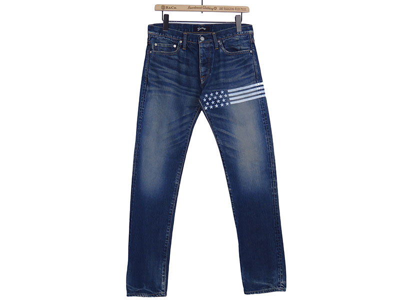 STARS BORDER DENIM PANTS(MPT-S1703B)
