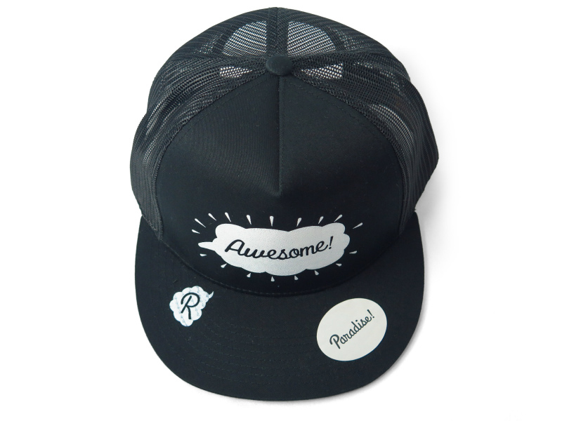 mesh cap (Awesome-2)/black×white
