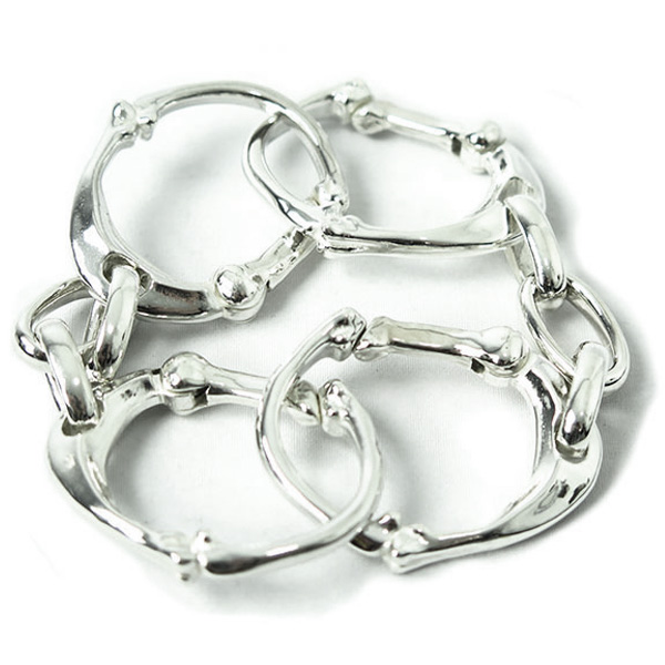bone shaped carabiner bracelet -L-.