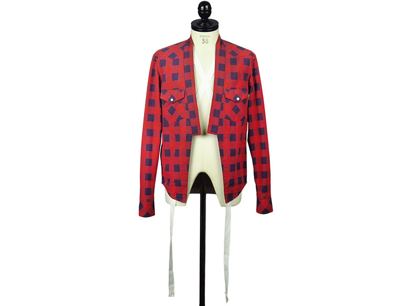 haori cowboy shirt(red×navy)