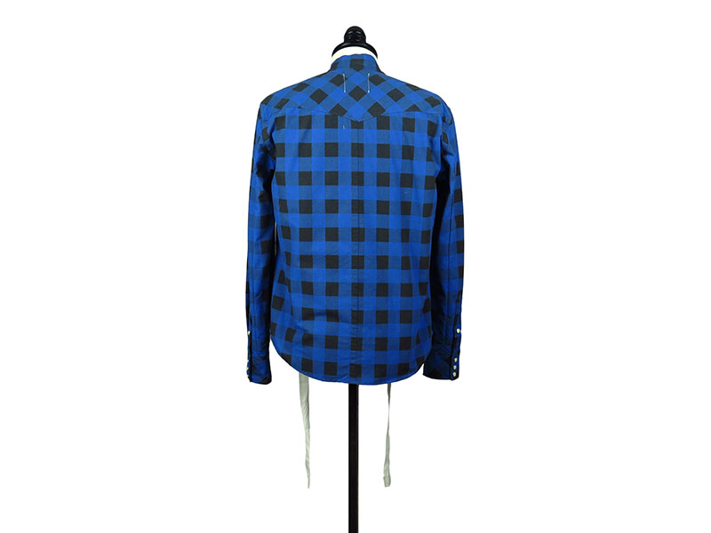 haori cowboy shirt(blue×black)