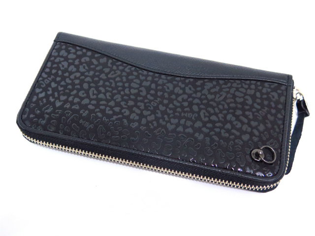 [JAM HOME MADE×印傳屋(印伝屋)]ZIP LONG WALLET -LEOPARD-