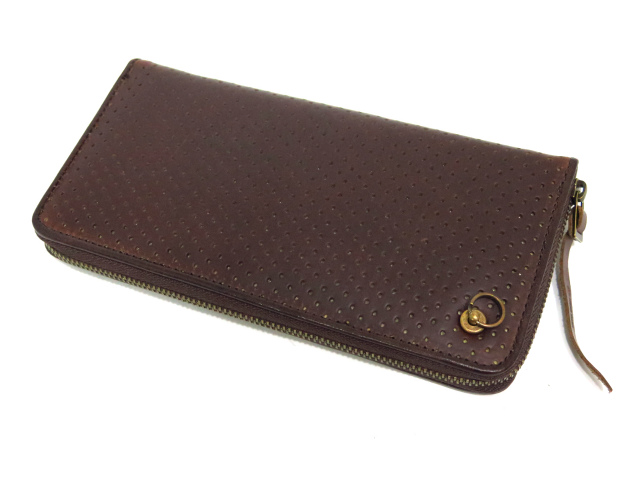PUNCH ZIP LONG WALLET -CHROMEXCEL-
