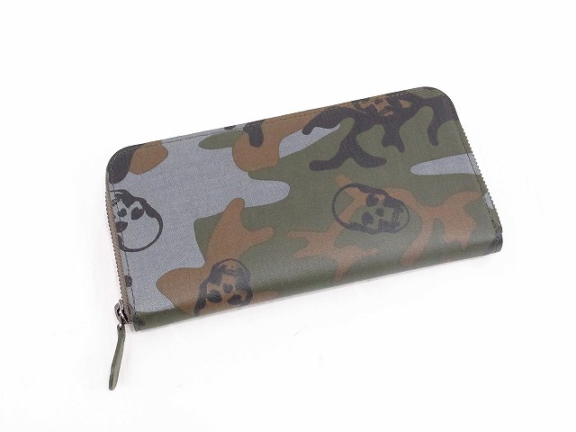 CAMOUFLAGE&SKULL WALLET LONG WITH ZIP